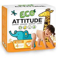 ATTITUDE, Экологичные подгузники, Maxi, 26 подгузников
