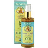 Badger Company, Успокаивающее масло для младенцев, с ароматом ромашки и календулы, 4 жидкие унции (118 мл)