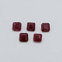 Рубин красный октагон 6х6 мм. 1,50 карат