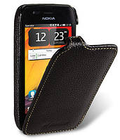 Кожаный чехол Melkco для Nokia 603 черный, фото 1