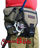 Поясная сумка для рыбалки ideaFisher Stakan S55 с держателем удилища, 1001881, поясная сумка для рыбалки, сумка пояс, сумка для рыбалки, сумки для