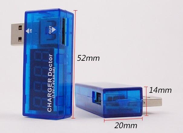 USB Вольтметр DC 3-7,5 V +Амперметр 0-2,5 A