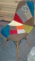 Стул DS-922 patchwork, деревянные буковые ножки Charles & Ray Eames Style, в стиле лофт