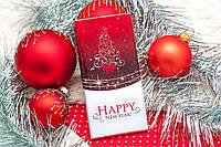 Шоколадная плитка HAPPY NEW YEAR красная