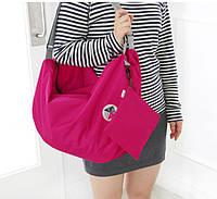 Летняя сумка складывается компактно с длинными, регулируемыми ручками салатовый
