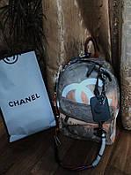 Рюкзак Шанель Chanel Беж. копия Шанель  , chanel граффити рюкзак