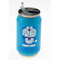 Термос с клапаном и трубочкой 250 мл.Cat Doraemon