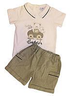 Комплект летний на мальчика Мишка  (шорты, футболка)  68, 74 см