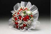 Букет Розочки красно-белые