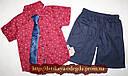 Нарядный летний костюм на мальчика рубашка+галстук+шорты 2,3,4,5 лет, фото 2