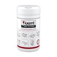 Салфетки для оргтехники Axent, 50 влажных, 50 сухих