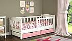 Подростковая детская кровать Ассоль с бортиком белая, фото 5