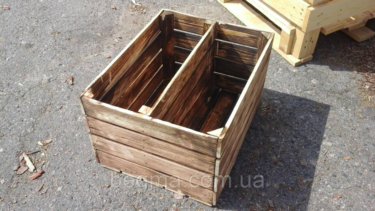 Ящик деревянный  обженный 50х40х30мм, фото 1