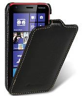 Кожаный чехол Melkco для Nokia Lumia 620 черный
