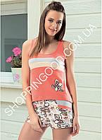 Женская пижама  Angel Story 44050, костюм для дома майка и шорты