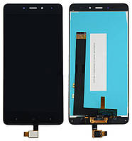 Дисплей (экран) + сенсор (тач скрин) Xiaomi Redmi Note 4 black (оригинал)
