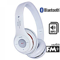 Наушники S460 (bluetooth, mp3) (белые)
