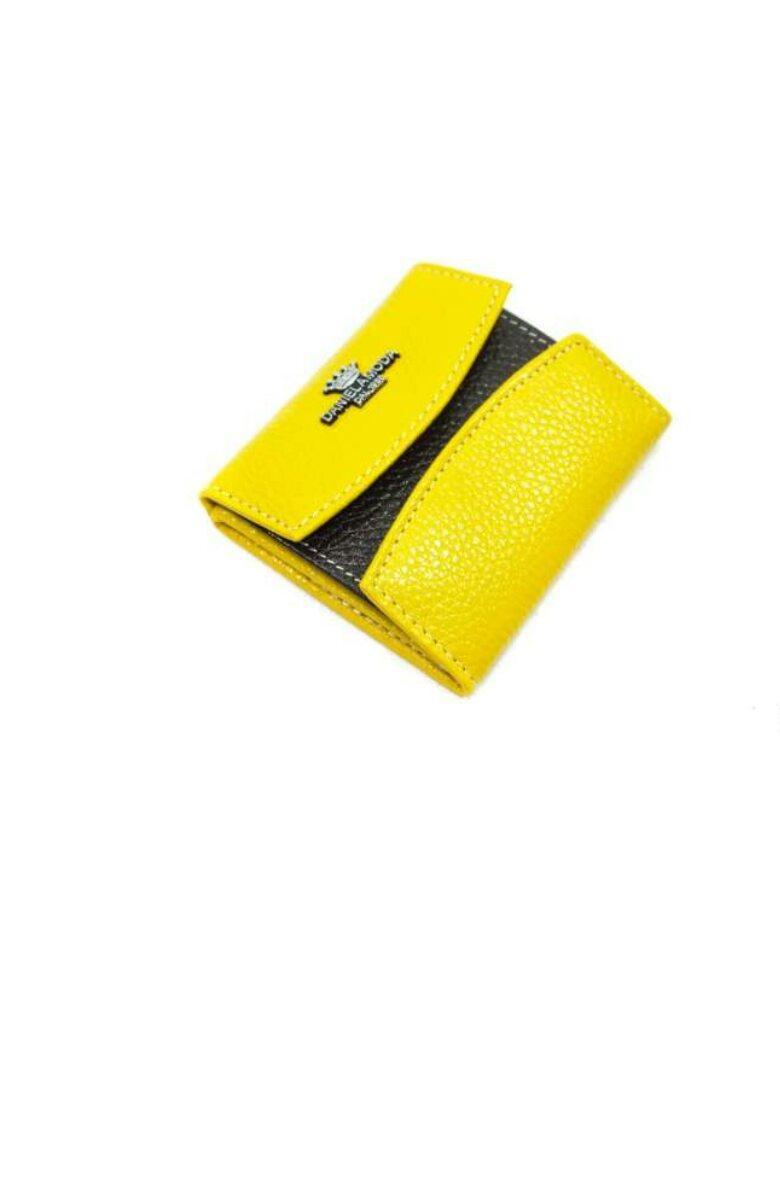 Кошелек женский кожаный жёлтый 1030.