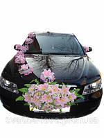 Украшение для свадебного авто Набор Цветы + Лилии на присосках