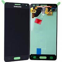 Дисплей (экран) + сенсор (тач скрин) Samsung SM-G850F Galaxy Alpha black service (оригинал)