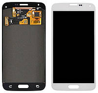 Дисплей (экран) + сенсор (тач скрин) Samsung SM-G800F Galaxy S5 Mini white service (оригинал)