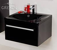 Шкафчик (тумба для раковины) + черная раковина Grekon Melinda 60x50