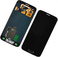 Дисплей (экран) + сенсор (тач скрин) Samsung SM-G800F Galaxy S5 Mini black service (оригинал)