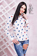Коттоновая блуза рубашка Дин с длинным рукавом
