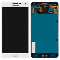 Дисплей (экран) + сенсор (тач скрин) Samsung SM-A700H Galaxy A7 (2015) white service (rev.0.1) (оригинал)