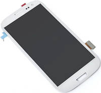 Дисплей (экран) + сенсор (тач скрин) Samsung i9300, I9305, I747, R530 white Galaxy S3 с рамкой (оригинал)