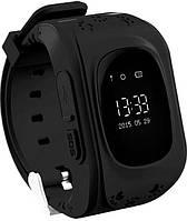Детские часы Smart Baby Watch Q50 black с GPS трекером