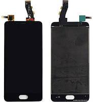 Дисплей (экран) + сенсор (тач скрин) Meizu U10 black (оригинал)