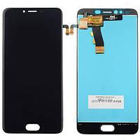 Дисплей (экран) + сенсор (тач скрин) Meizu M5 black (оригинал)