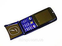 Мобильный телефон раскладушка VERTU ROLLS ROYCE V095 Синий копия