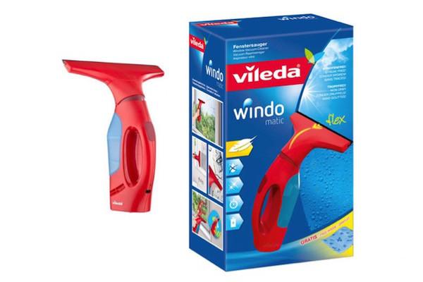 Вакуумний очищувач для скла Vileda Windomatic (безпровідний скребок для вікон Віледа)