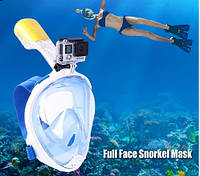 Маска для подводного плаванья с антизапотевающтм эффектом со встроенной трубкой