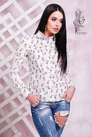 Коттоновая блуза рубашка Дин-1 с длинным рукавом