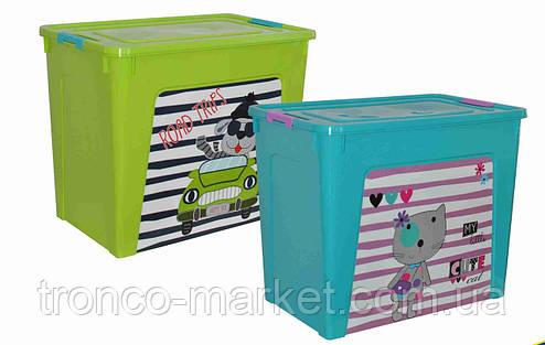 "Алеана Контейнер для хранения ""Smart Box"" с декором 27л, фото 2"