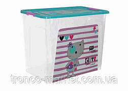 "Алеана Контейнер для хранения ""Smart Box"" с декором 40л. Pet Shop , фото 2"