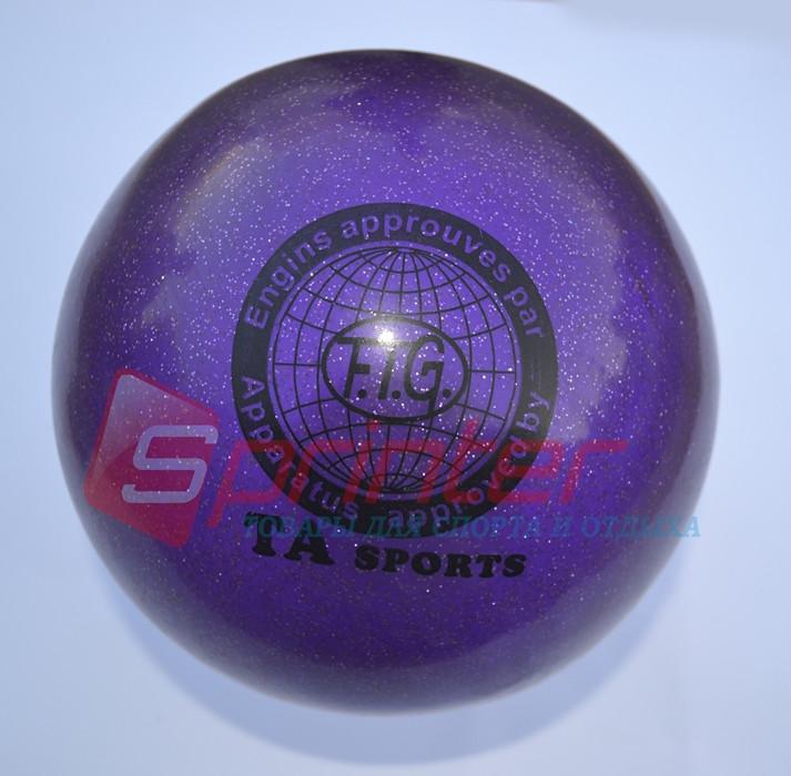 Мячи для художественной гимнастики. Диаметр 15 см. (с блестками) T-12