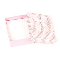 Подарочная коробка под бижутерию из фактурного картона розовая 9 х 7 х 3 см
