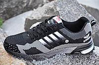 Кроссовки мужские черные с принтом в стиле Adidas адидас удобные