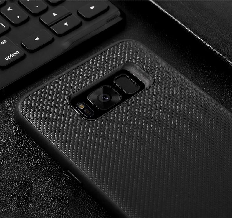 """Samsung G955F S8+ PLUS ПРОТИВОУДАРНЫЙ чехол оригинальный бампер панель накладка КАРБОНОВАЯ вставка """"RC"""""""