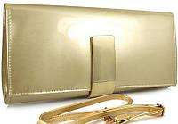 Большой женский клатч золотистого цвета