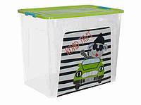 "Алеана Контейнер для хранения ""Smart Box"" с декором 40л. My Car"