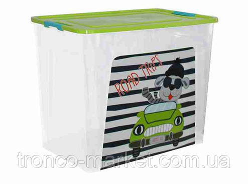 "Алеана Контейнер для хранения ""Smart Box"" с декором 40л. My Car , фото 2"