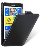 Кожаный чехол Melkco для Nokia Lumia 625 черный, фото 1