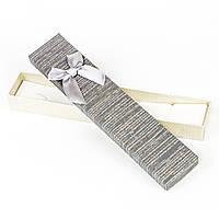 Подарочная коробка под бижутерию из дизайнерского картона коричневая 21 x 4,2 x 2,2 см, фото 1