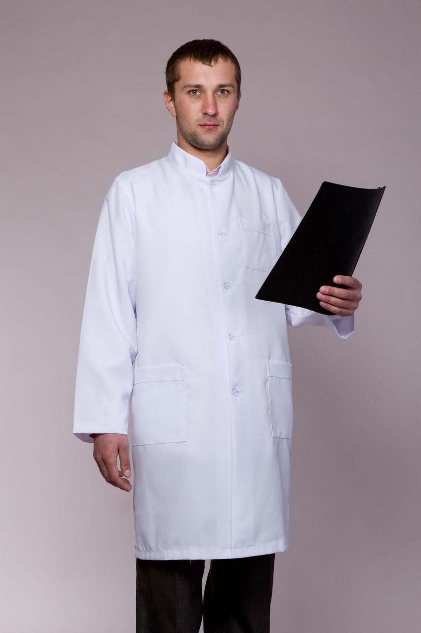 Халат медичний чоловічий з коміром стійка