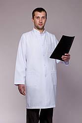 Мужской медицинский халат с воротником стойка (40-52 р)